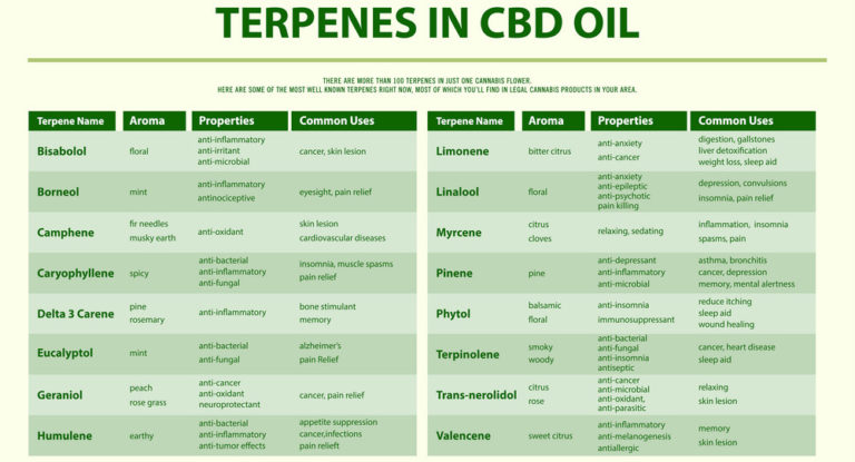 Terpenes in CBD oil
